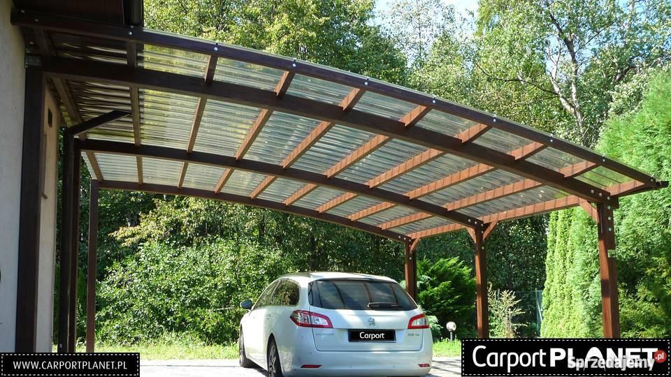 Nowoczesne wiaty garażowe wykonane z drewna Katowice sprzedam