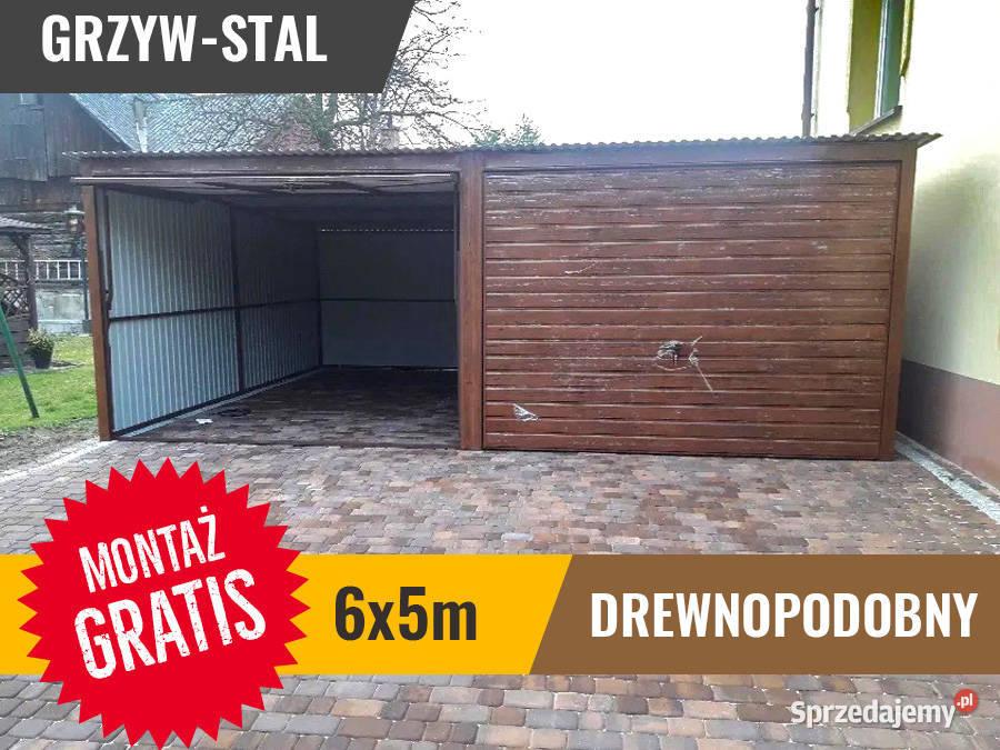 Garaż Blaszany 6x5 jednospadowy drewnopodobny PRODUCENT