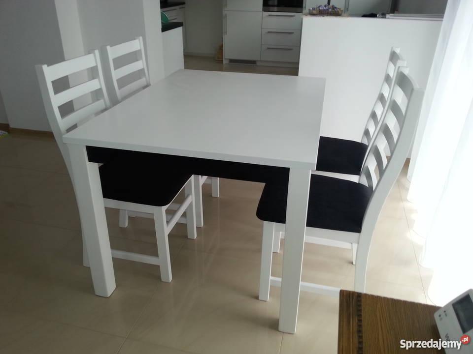 Krzesła Białe Czarne Sosnowe Glamour Do Kuchni