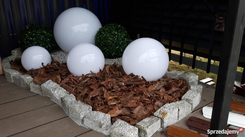 Duży zestaw kul ogrodowych świecących na biało Oświetlenie Gierałtowice