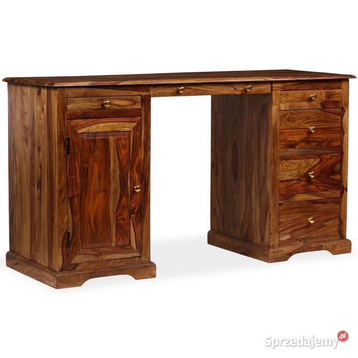 vidaXL Biurko z szafką i szufladami, drewno 244684