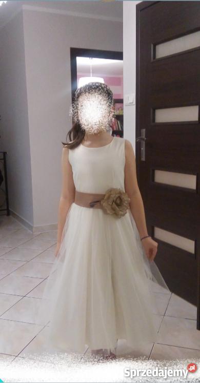 112578e1b0 Sukienka komunijna wizytowa bal komunia wesele dziewczynka Włocławek