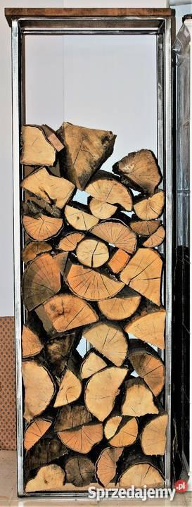 Regał na drewno kominkowe stylizacja LOFT