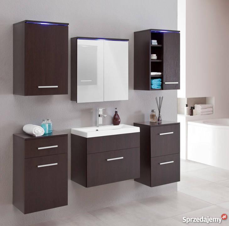 Meble łazienkowe Megi 1 Oświetlenie Led Umywalka Dostawa