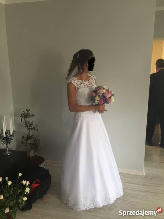 Suknia ślubna Biała Piękna W Bardzo Dobrym Stanie Bytom