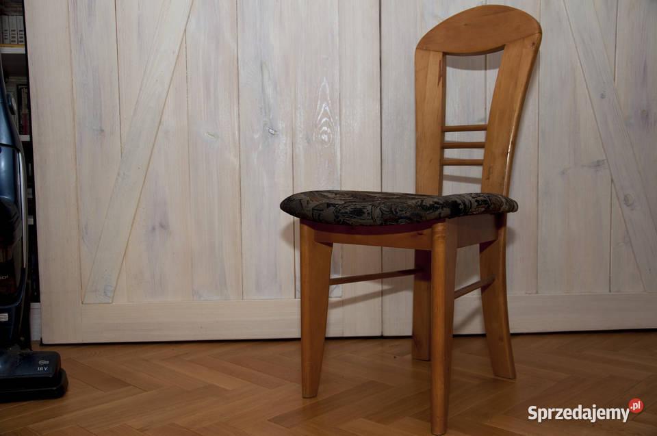 Krzesło drewniane z oparciem krzesło tapicerowane