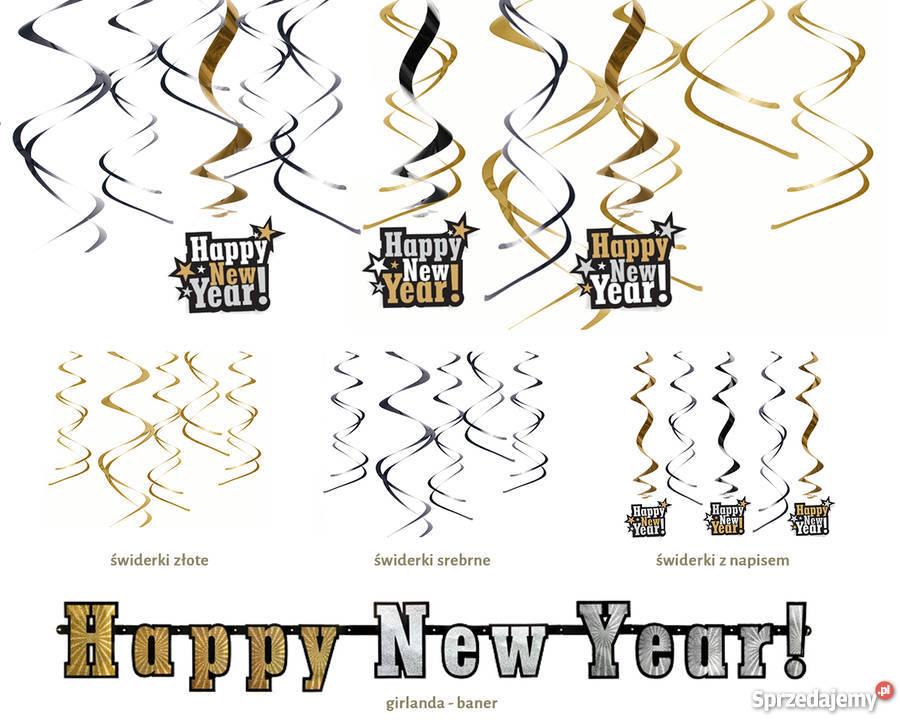 Nowy 2016 Sylwestrowe balony i dekoracje wielokolorowy