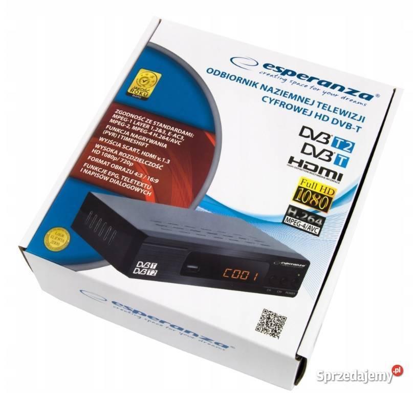 Nowy nowoczesny Dekoder DVBT2 MPEG4 z pilotem Gwarancja