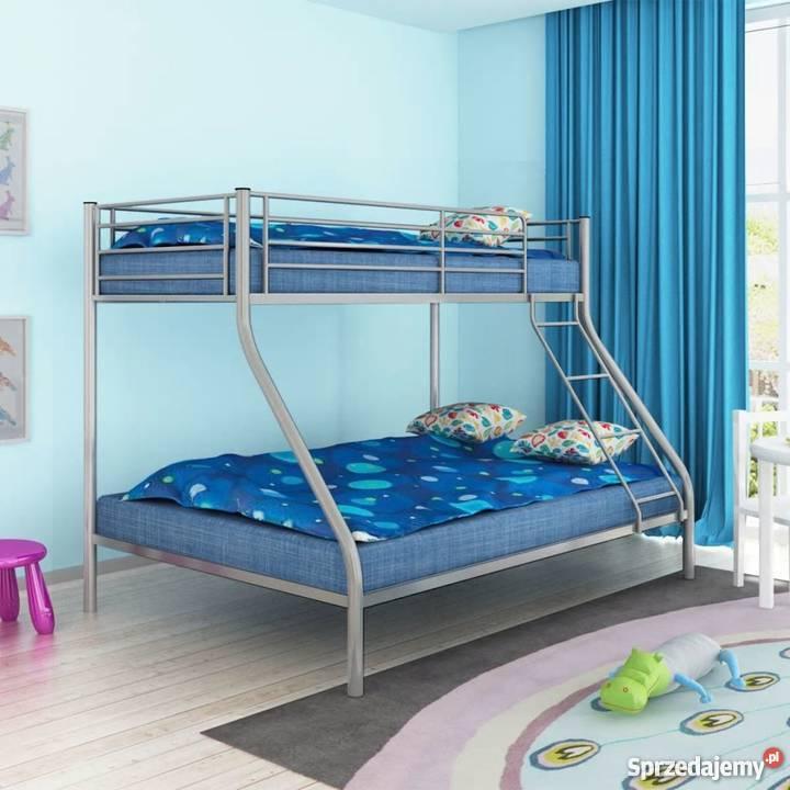 Vidaxl łóżko Piętrowe Dla Dzieci Z Metalową Ramą 242995