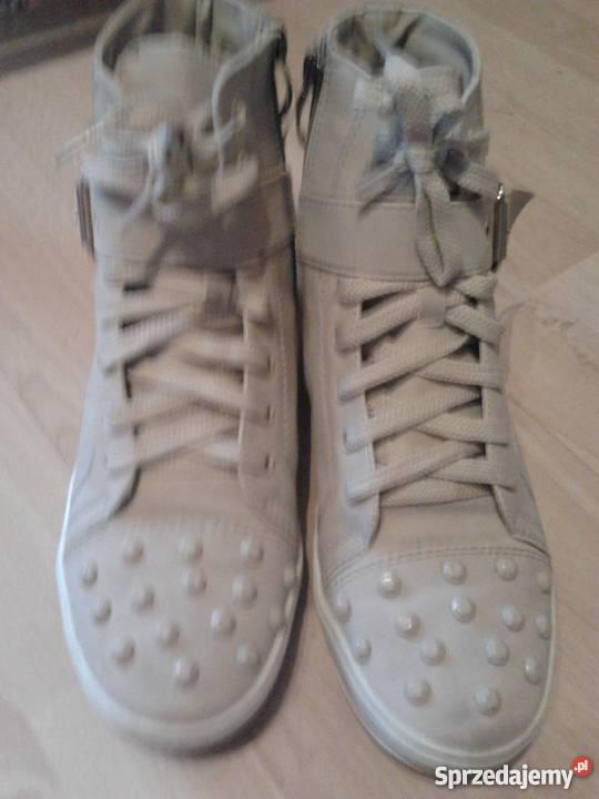 6b086e2046e57 sneakers blogerskie beż 38 tenisówki trampki casual vintage Suków ...