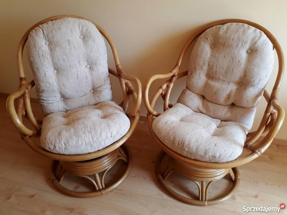 Fotel Rattan Bujano Obrotowy Ratan