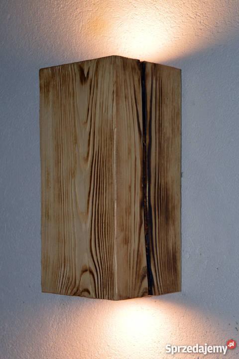 Kinkiet belka drewniana LED VINTAGE LOFT