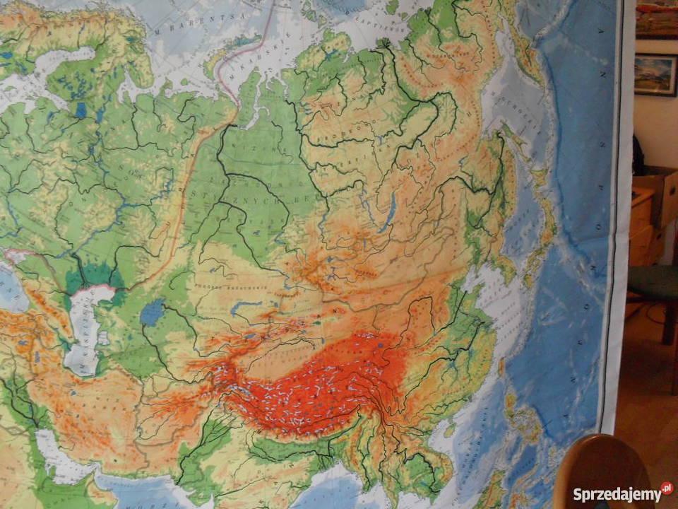 Mapa Fizyczna Azji Scienna Warszawa Sprzedajemy Pl