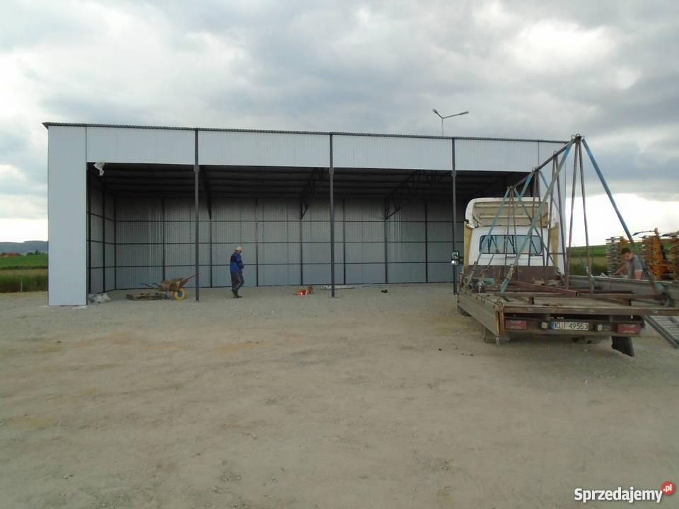 garaż blaszany wiata 16x8 garaże blaszane wiaty małopolskie Limanowa
