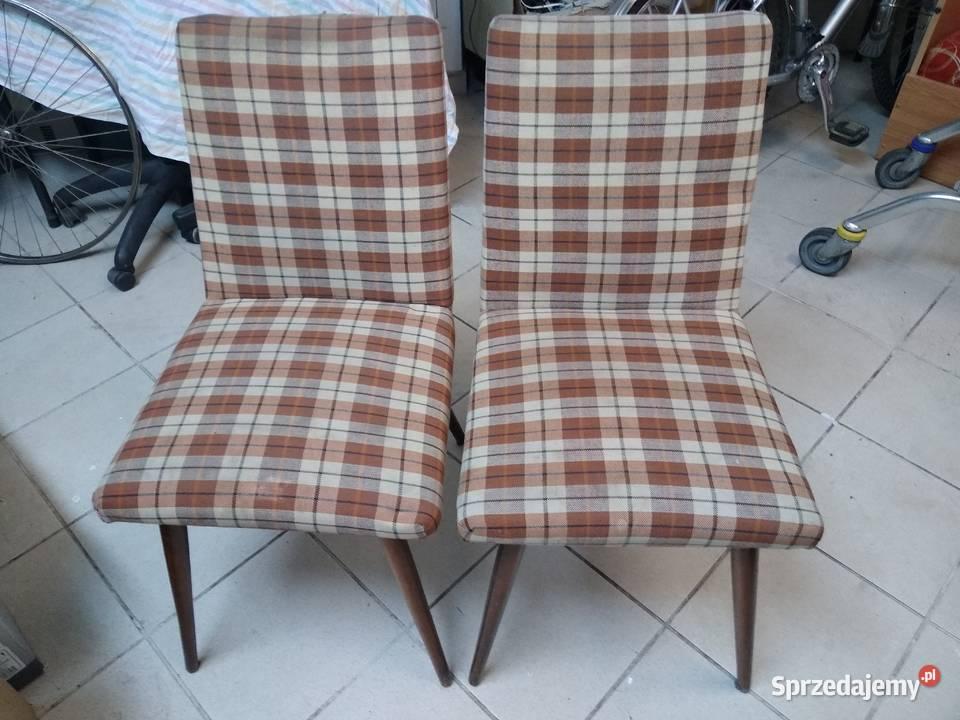 Krzesła patyczaki prl vintage retro loft
