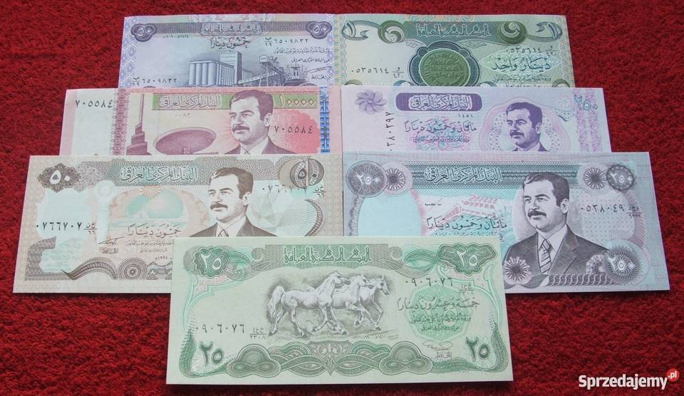 IRAK HUSAJN 2 Kolekcjonerskie Banknoty Zestaw 7 Katowice