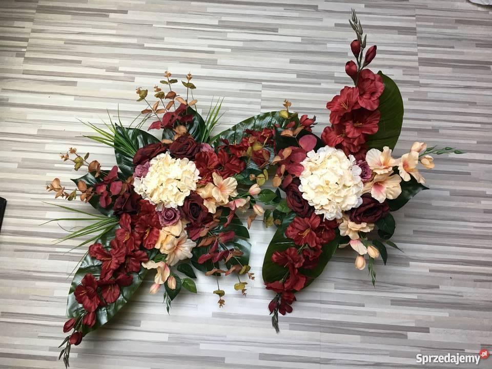 Kompozycja Kwiatów Sztucznych Cmentarz Stroik Grób