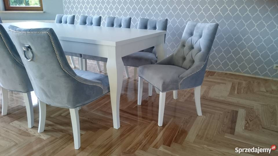 Krzesło nowoczesne tapicerowane pikowane z Starogard Gdański sprzedam