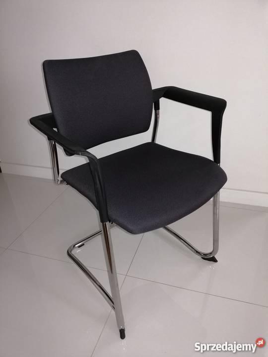 krzesło biurowe tapicerowane na płozach