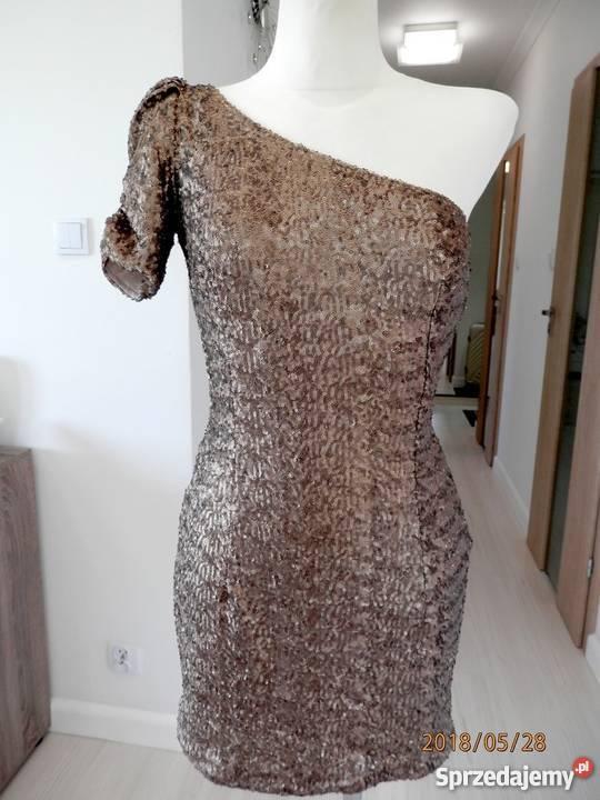 8c36a75832 złota cekinowa sukienka - Sprzedajemy.pl