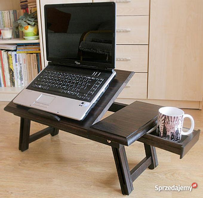 Drewniany Stolik Pod Laptopa Venge