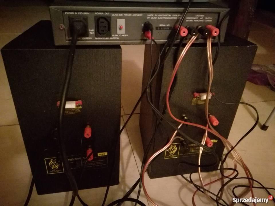 Kolumny HGP NIGHTINGALE + końcówka mocy QUAD 306 + przewody