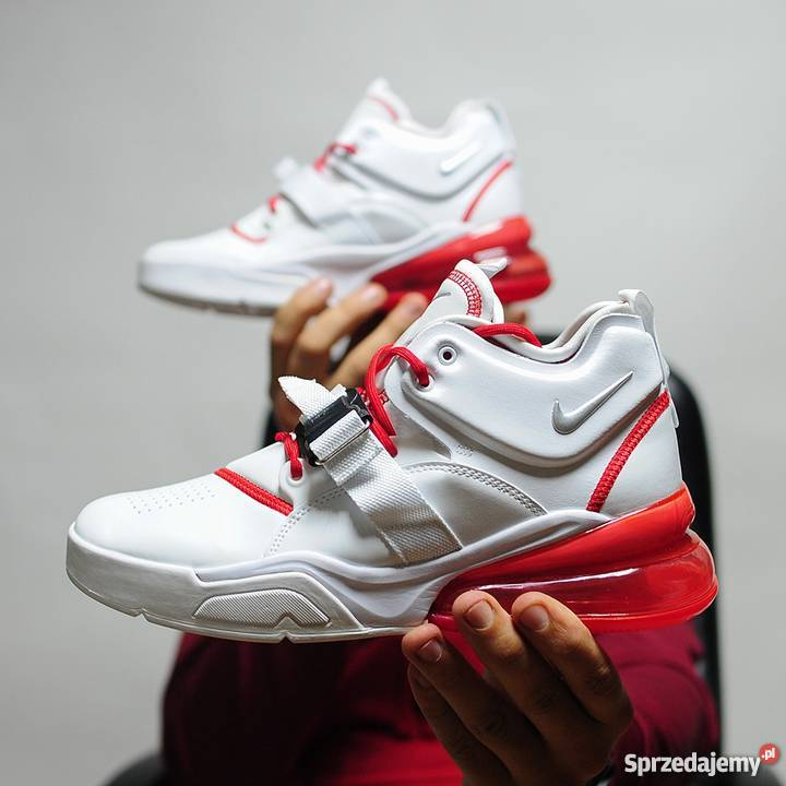 newest 10910 c811f Nike Air Force 270 WhiteRed r4145 Lublin