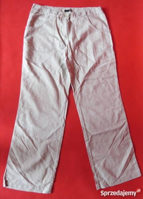 H&M Długie Spodnie lniane damskie rozm L