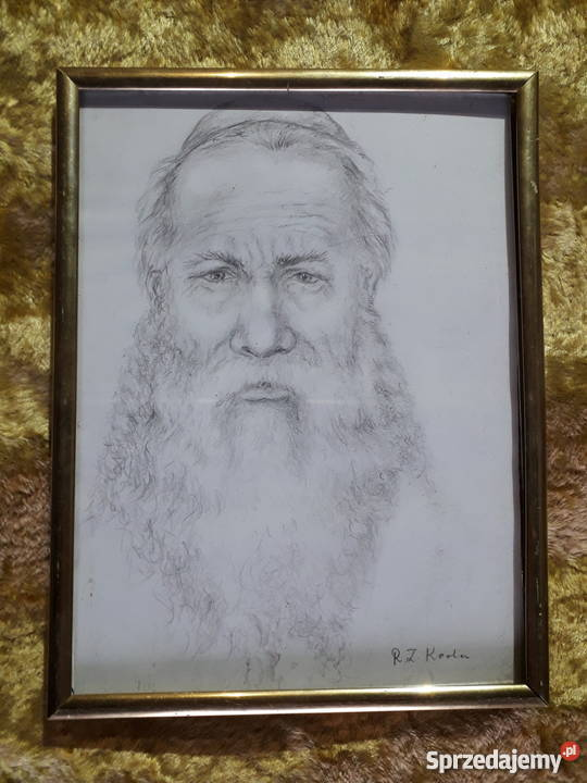 Portret żyda wykonany ołówkiem.