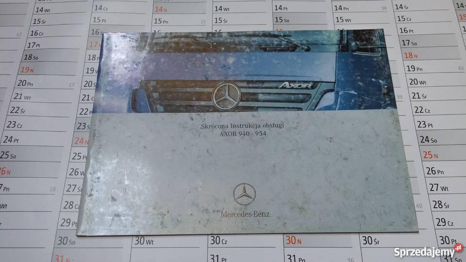 Poważne Skrócona instrukcja obsługi Mercedes-Benz AXOR 940-954 Szamotuły ZL18