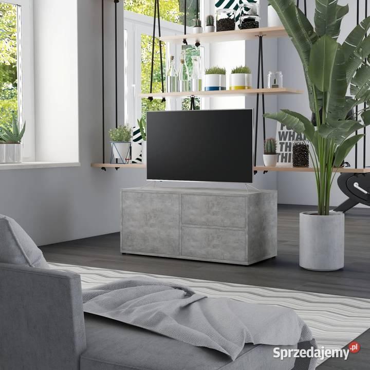 vidaXL Szafka pod TV, szarość betonu, 80x34x36 cm (801854)