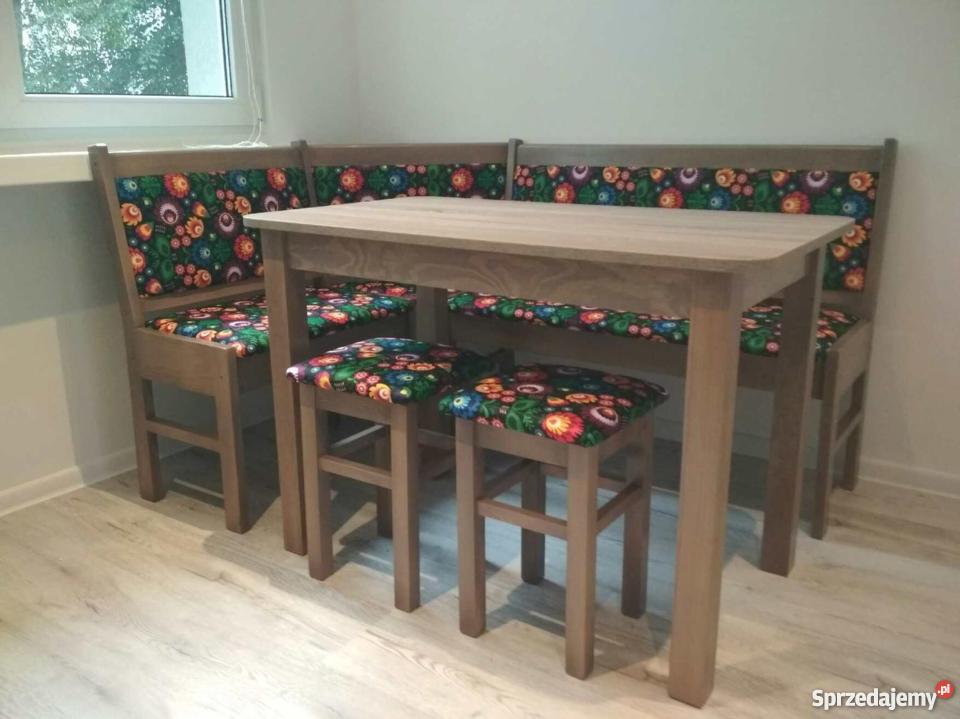 Narożnik Kuchenny rogówka ława narożna stół taborety zestaw