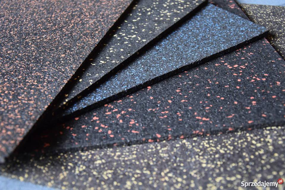 Mata gumowa w rolce 4mm czarna Podłogi i schody