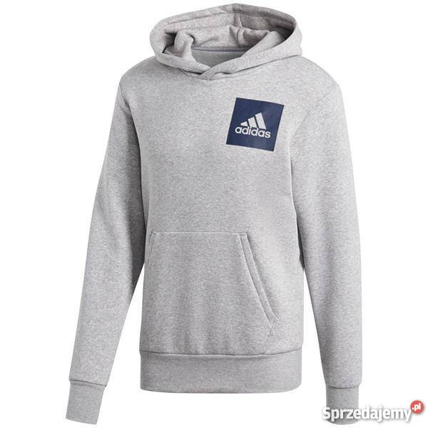 Bluza męska adidas Essentials Chest Logo Pullover Hood Fleec