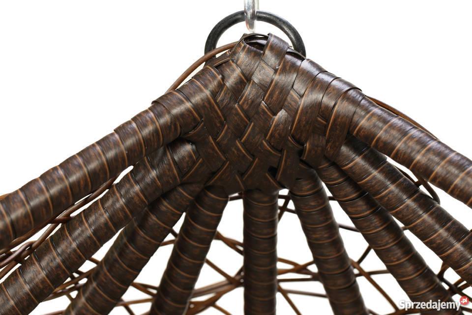 Kosz bujany kokon fotel wiszący technorattan 72cm Kazuń Nowy sprzedam