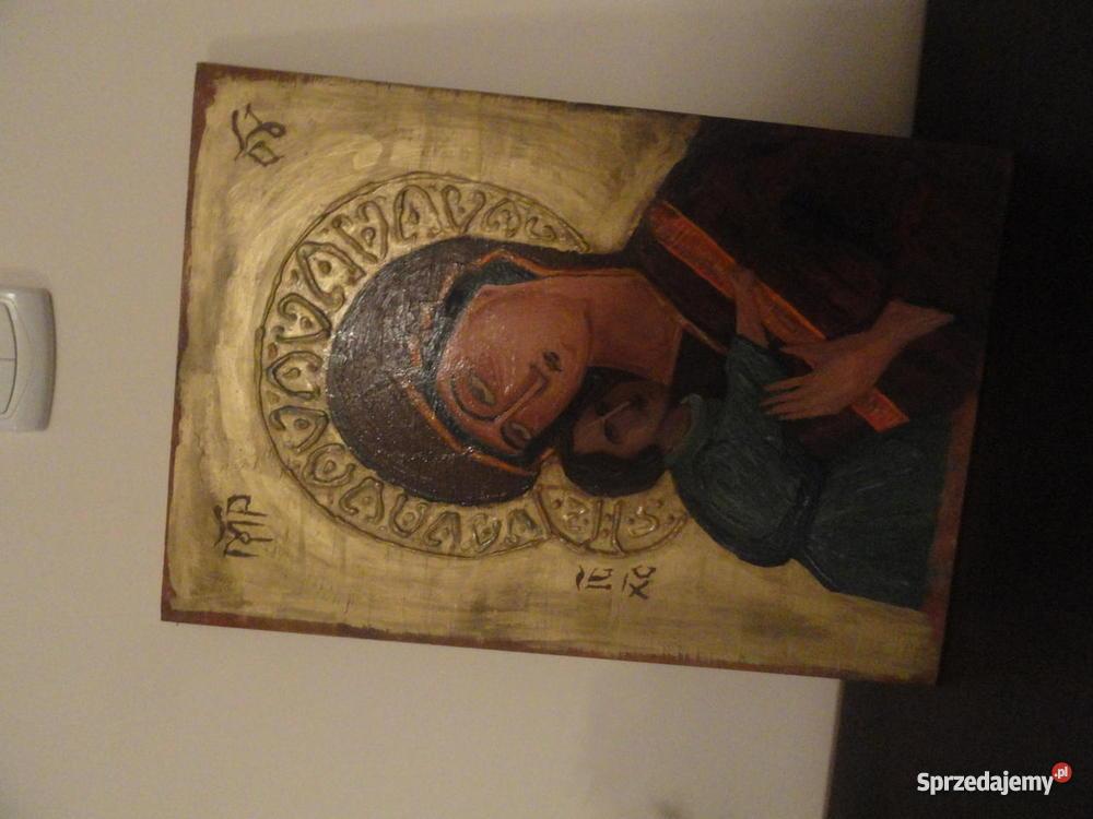 Ikona Obraz Jezus Chrystus Matka Boska Archanioł