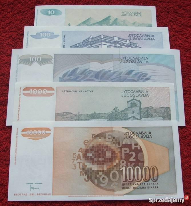 JUGOSŁAWIA GŁOWY Kolekcjonerskie Banknoty Zestaw