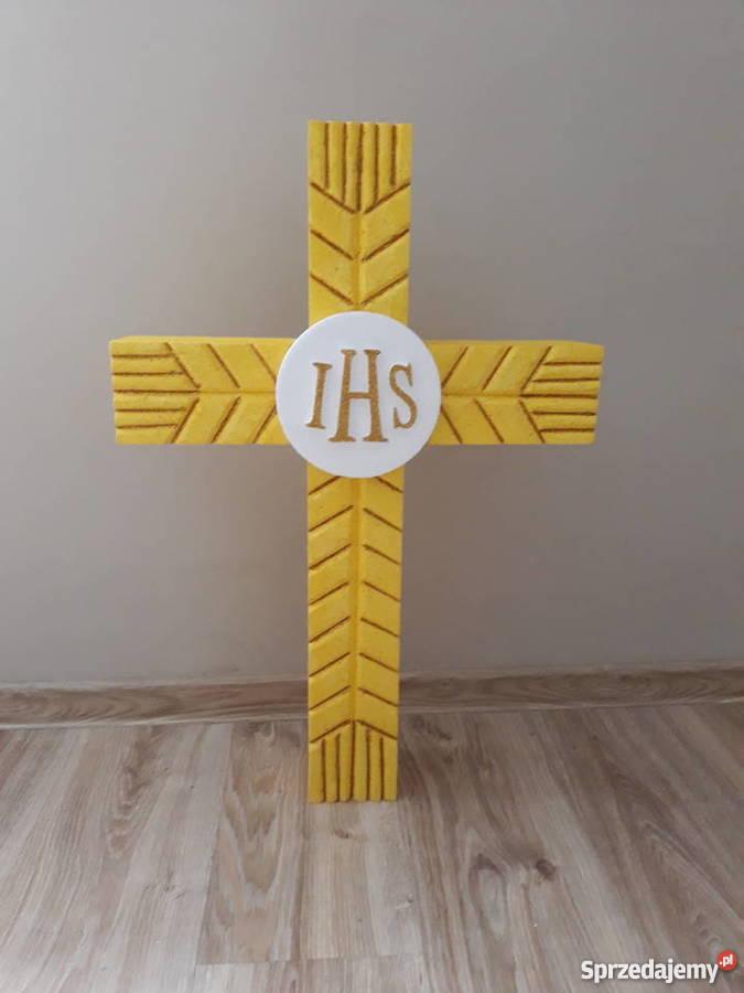 Krzyż Z Kłosów Dekoracja Wieniec Dożynkowy Ołtarz Boże Ciało