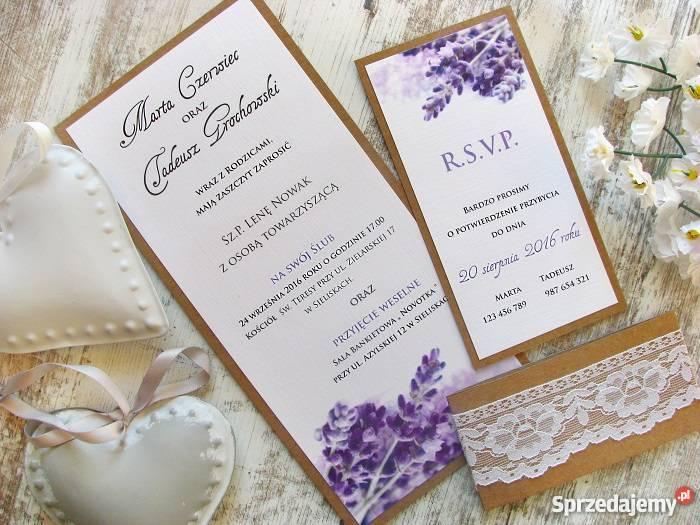Zaproszenia ślubne I Zawiadomienia Na ślub Papeteria ślubna Kołbiel