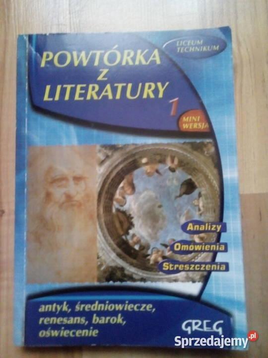 Powtórka z literatury: antyk, średniowiecze, renesans, barok