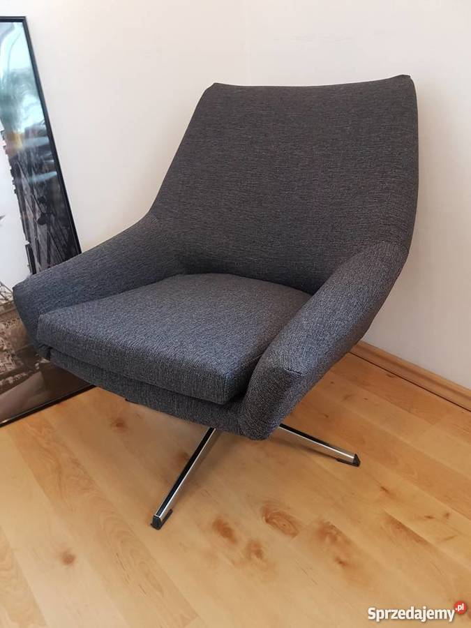 Fotele Bauhaus Lata 70 Prl Obrotowe Muszelka Loft Vintage