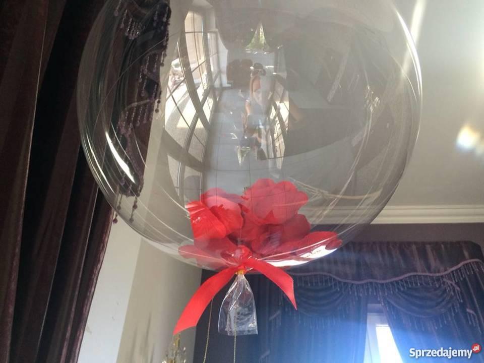 Balon przezroczysty kula bubble z helem wesele łódzkie Głowno