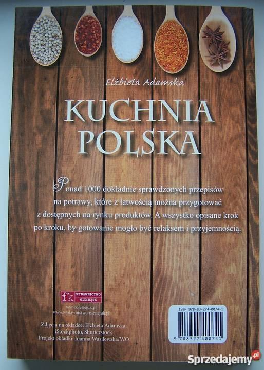 Kuchnia Polska Elzbieta Adamska Bialystok Sprzedajemy Pl