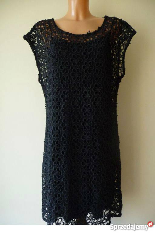 Fantastyczny Sukienka z czarnej koronki firmy Next, rozmiar 34 Bestwina RW87