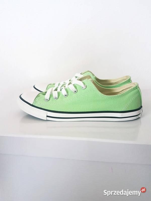 Oryginalne trampki Converse Zielone miętowe Slim Nowe