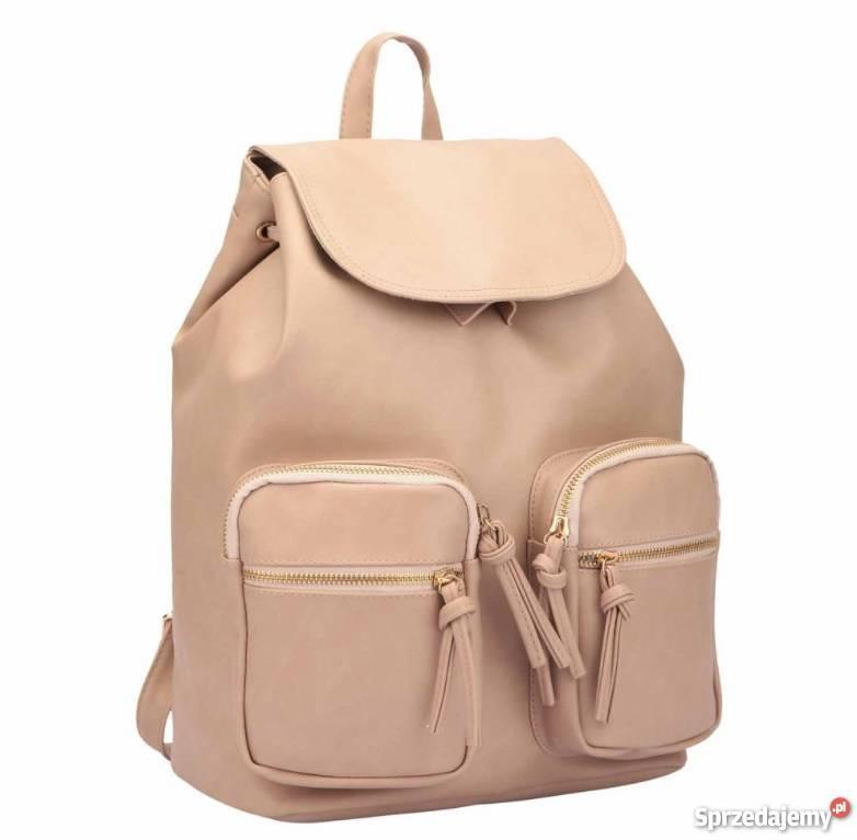 4abb865588050 Beżowy plecak z kieszonkami must have Warszawa - Sprzedajemy.pl