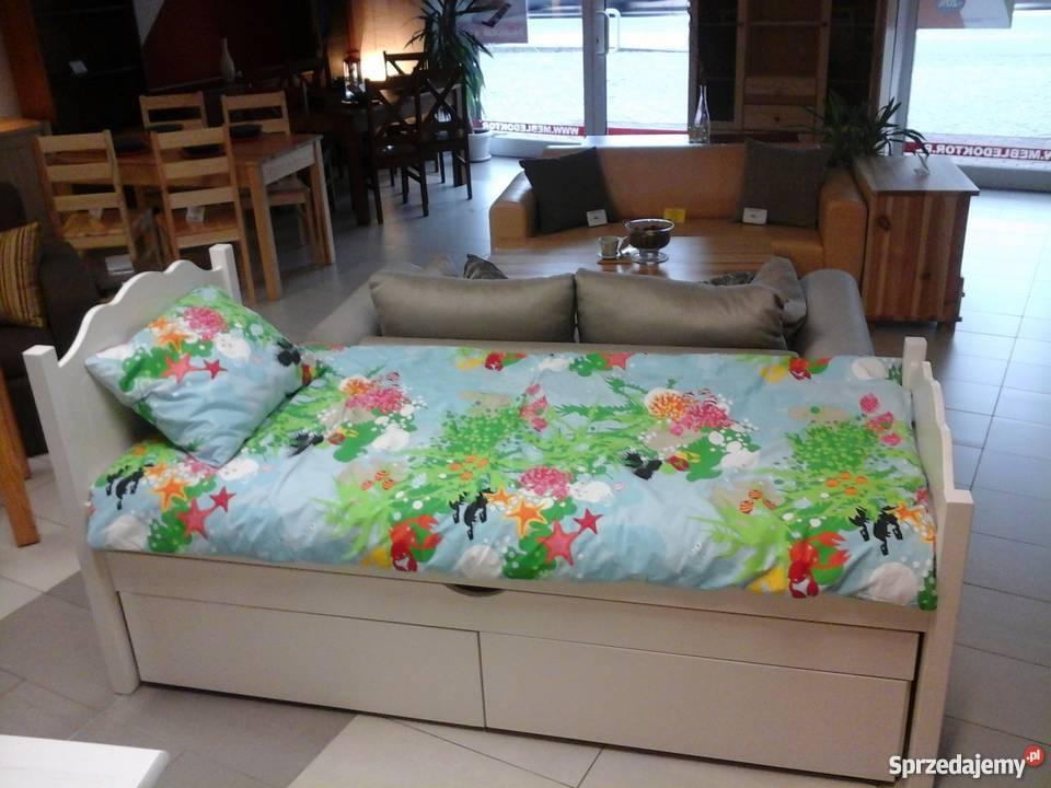 łóżko Sosnowe Białe 80x190 Meble Doktór