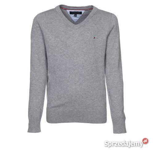 5f5c1e520fc97 Szary sweter TOMMY HILFIGER XL w serek Poznań