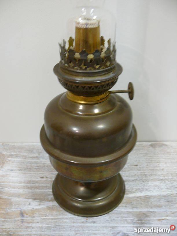 lampa naftowa mosiężna stylizowana Warszawa