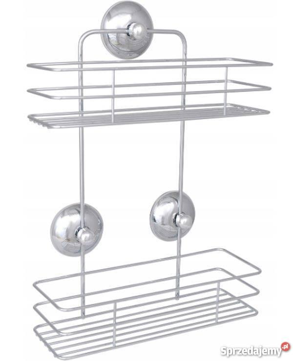 łazienkowy Koszyk Pod Prysznic 2 Półki Chrom